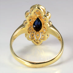 Cluster Diamond & Sapphire Cocktail Ring | 0.20 ctw, SZ 7 |