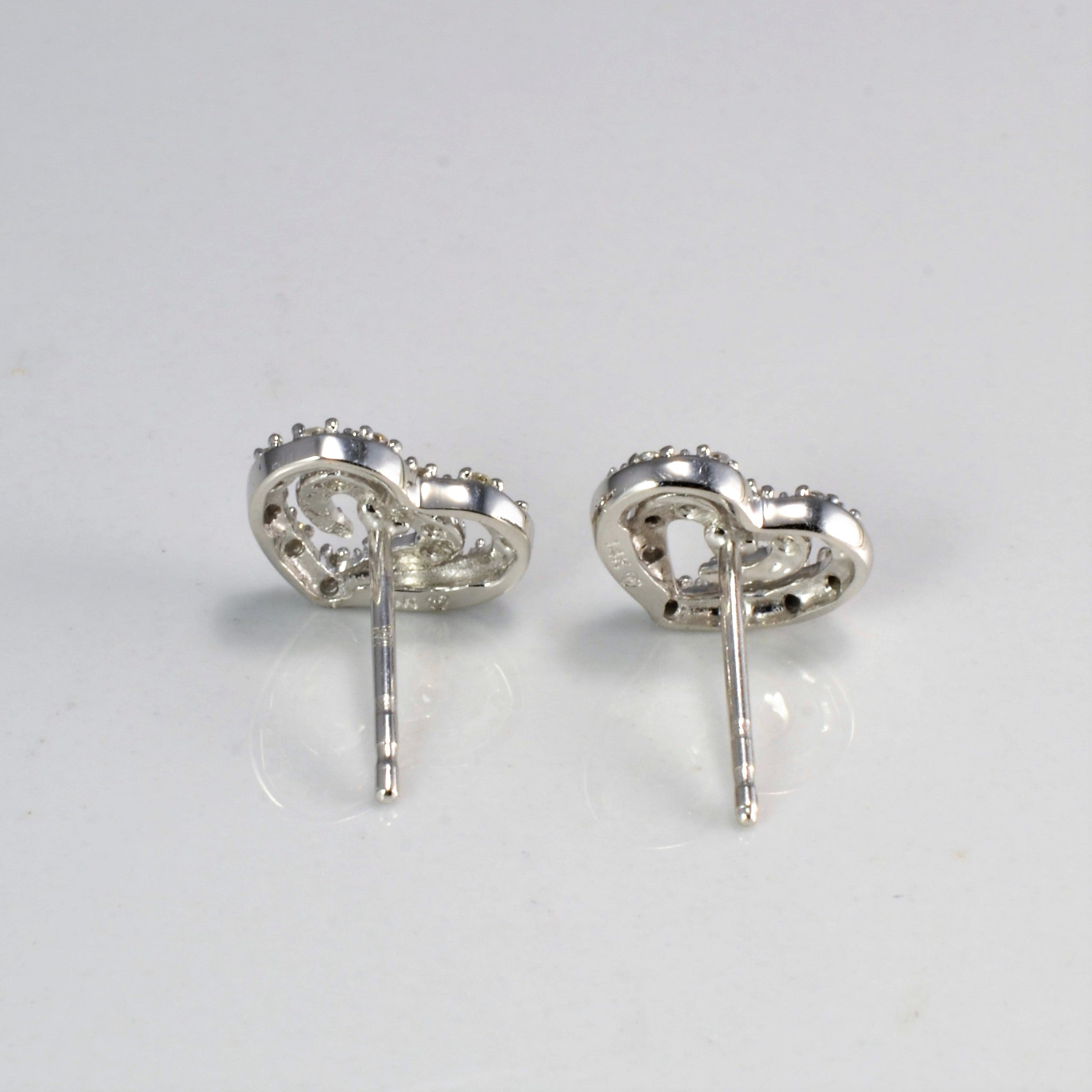 Diamond Heart Stud Earrings | 0.10 ctw |