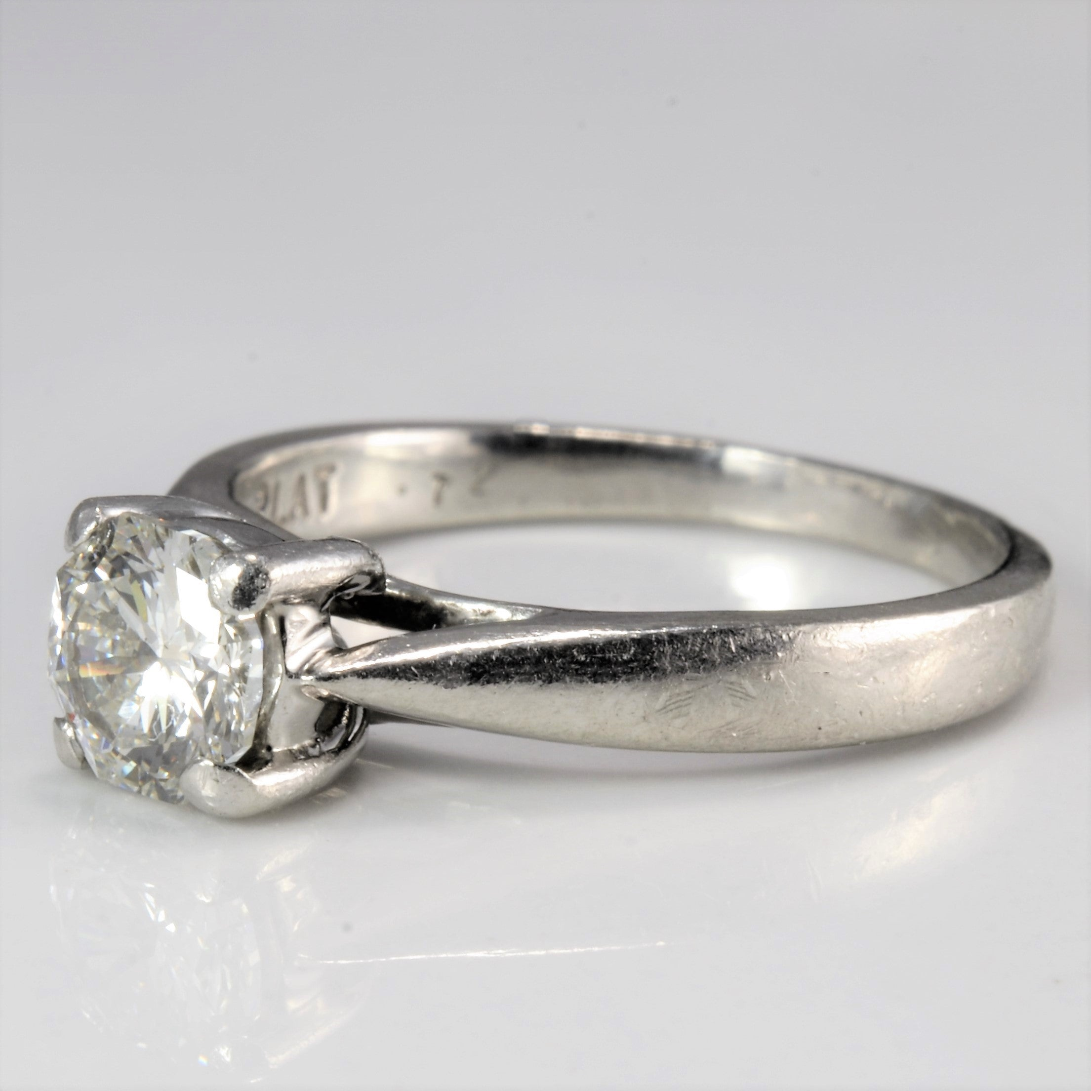 High Set Solitaire Diamond Engagement Ring | 0.72 ct, SZ 6 |