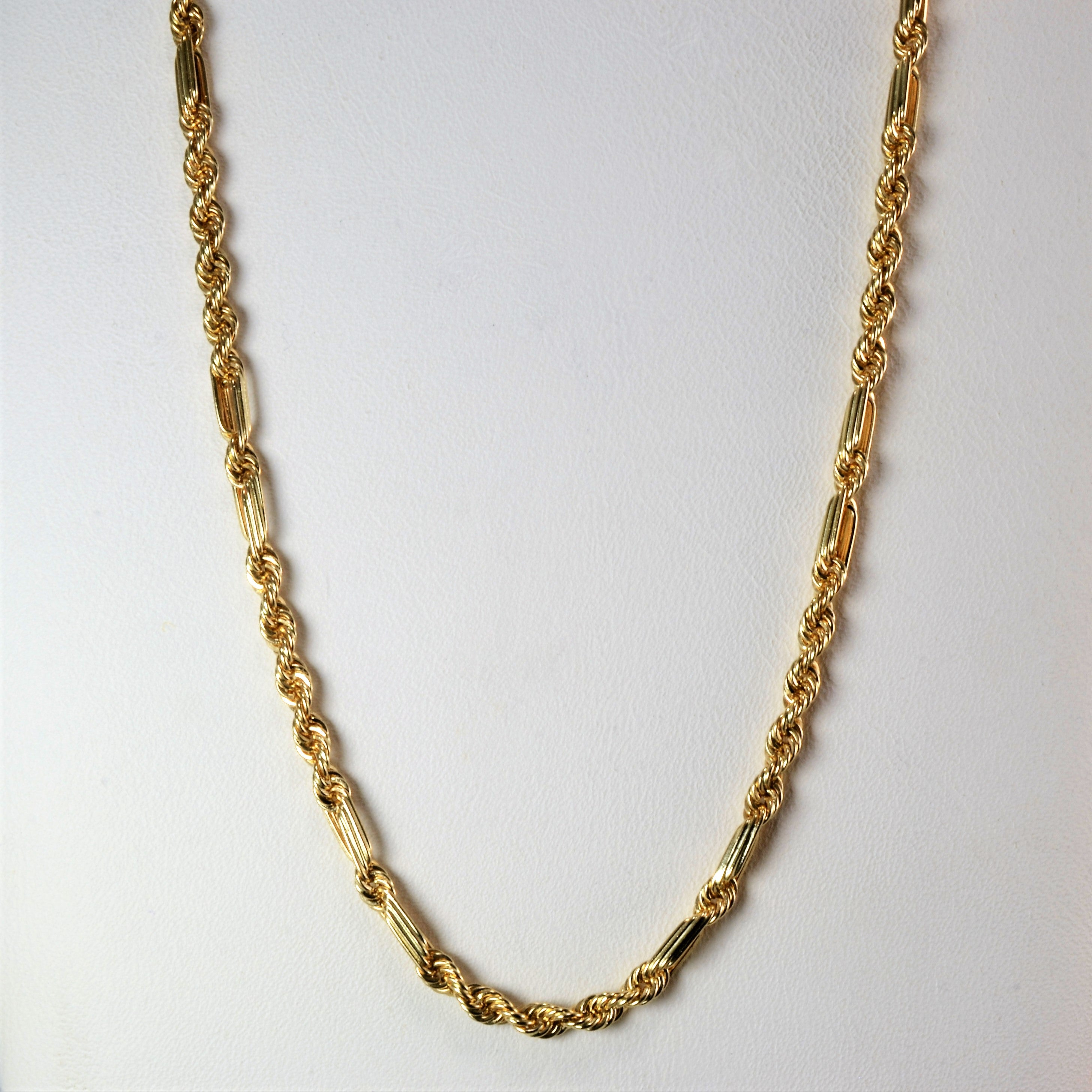 10K Yellow Gold Rope Chain | 24''|