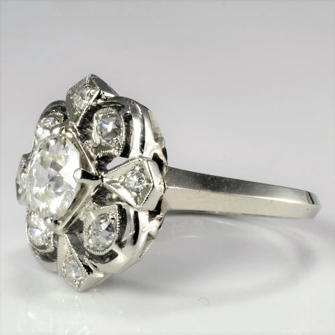 Milgrain Detailed Art Deco Diamond Engagement Ring | 1.06 ctw, SZ 5.5 |