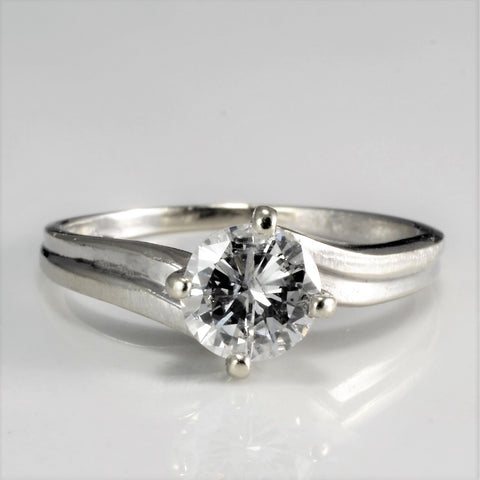 Solitaire Diamond Engagement Ring | 0.66 ct, SZ 5.25 |
