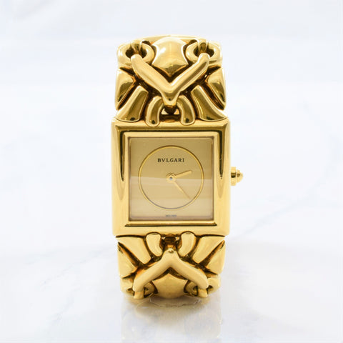 'Bvlgari' Yellow Gold Trika Watch | 7"