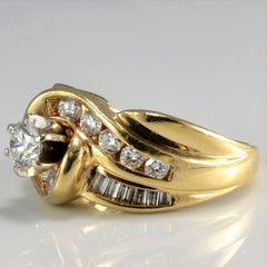 Bypass Channel Diamond Ladies Wide Ring | 1.00 ctw, SZ 6 |