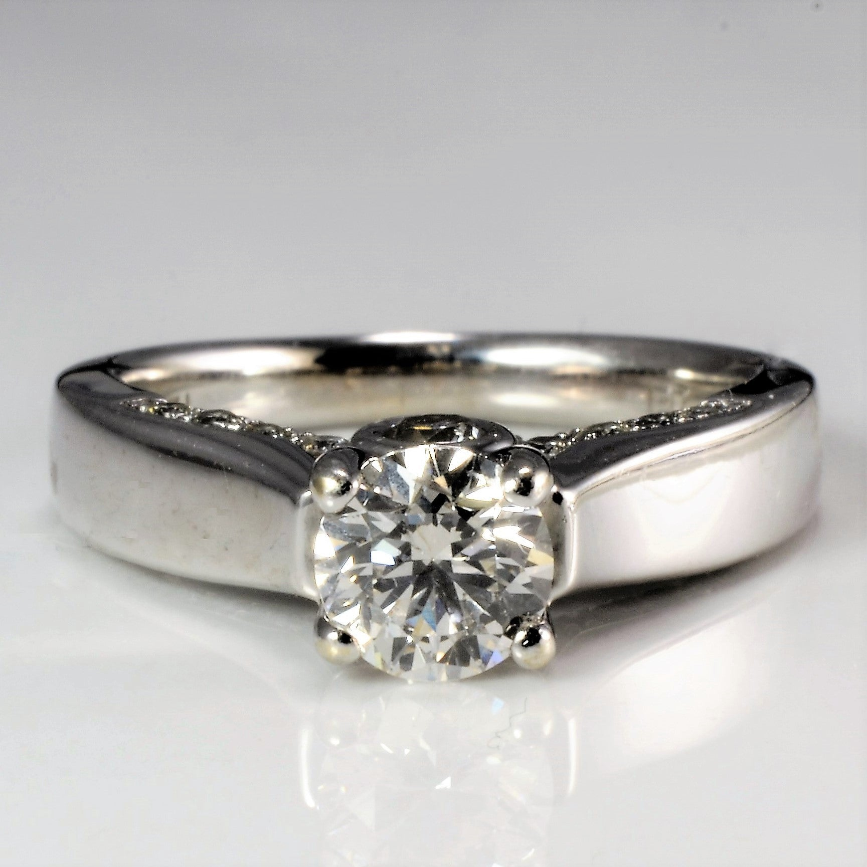 High Set Diamond Engagement Ring | 1.26 ctw, SZ 5.5 |