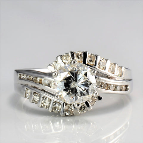 Bypass Diamond Engagement Ring | 1.35 ctw, SZ 6.25 |