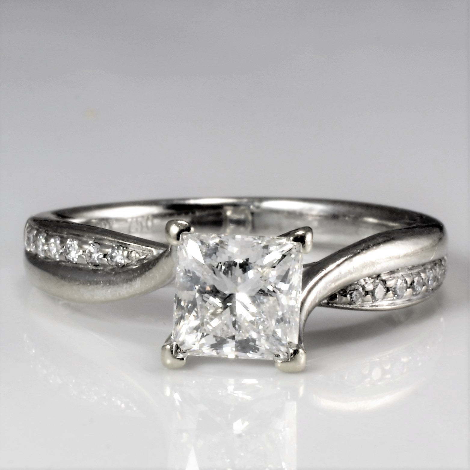 Bypass Princess Cut Diamond Engagement Ring | 1.22 ctw, SZ 6.5 |