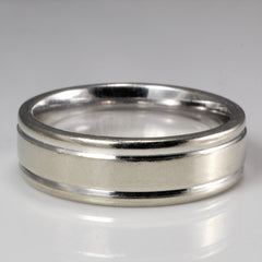 'Birks' Ridged Wedding Band | SZ 7 |