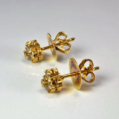 Flower Diamond Stud Earrings | 0.20 ctw |
