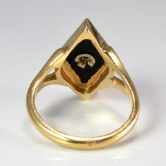 Bezel Set Onyx & Diamond Ring | 0.03 ctw, SZ 4.5 |