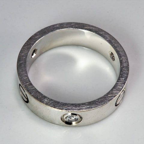 CARTIER Three Diamond Love Ring | 0.24 ctw, SZ 8.5 |