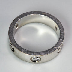 'Cartier' Three Diamond Love Ring | 0.22 ctw | SZ 8.5 |