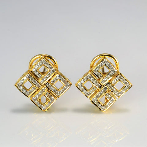 Textured Diamond Clip Earrings | 1.06 ctw |