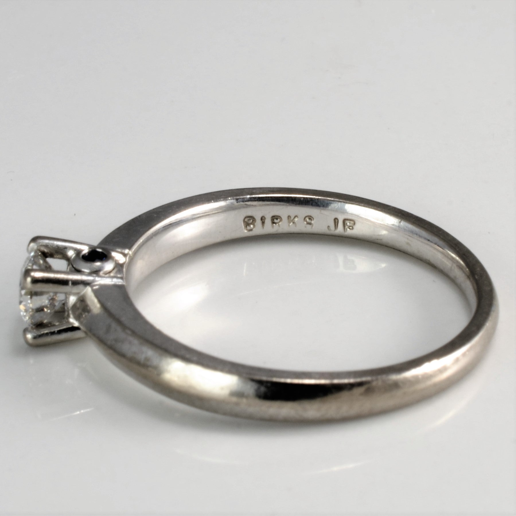 'Birks' Knife Edge Solitaire Diamond Ring | 0.24 ct | SZ 6 |