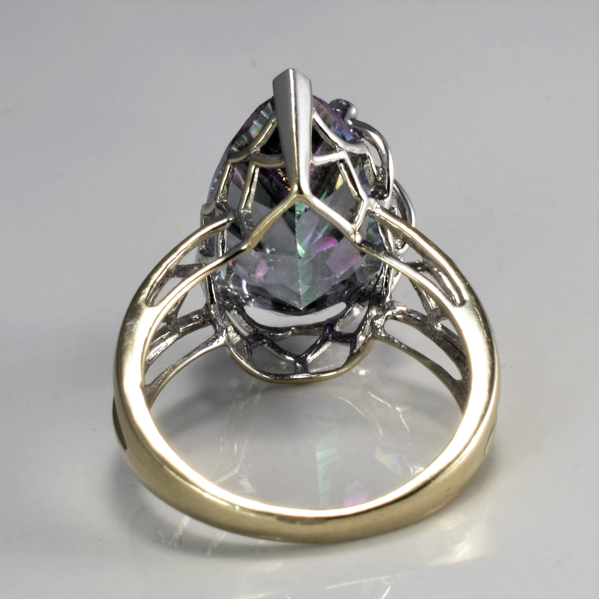 High Set Mystic Topaz & Diamond Ring | 0.02 ctw, SZ 7.5 |