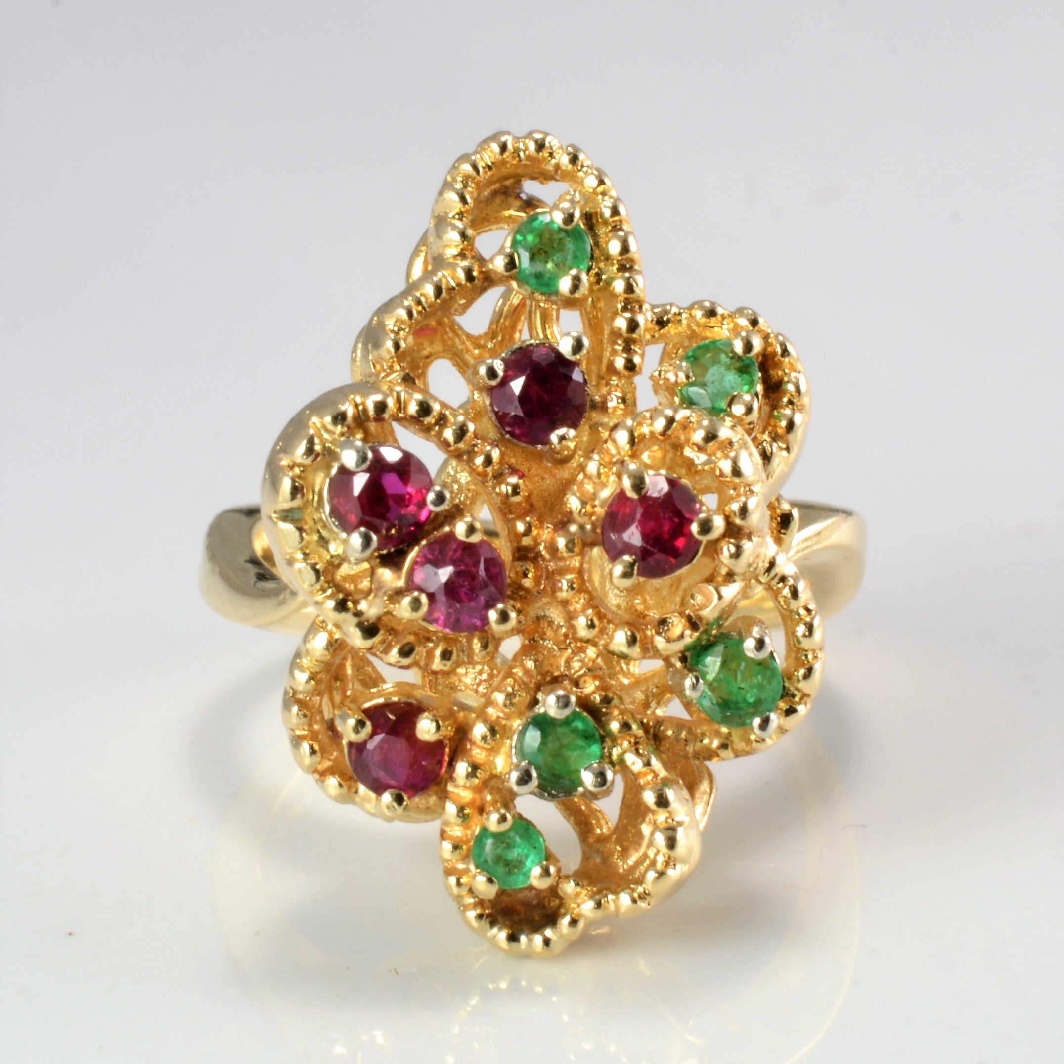 Detailed Multi Gem Ladies Statement Ring | SZ 6 |