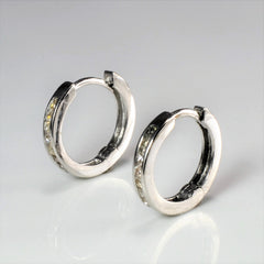 Channel Diamond Huggie Earrings | 0.10 ctw |
