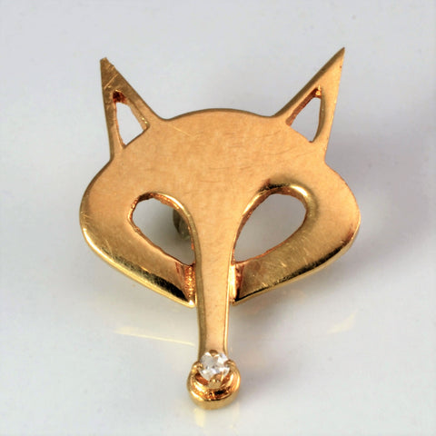 Fancy Fox Face Pendant
