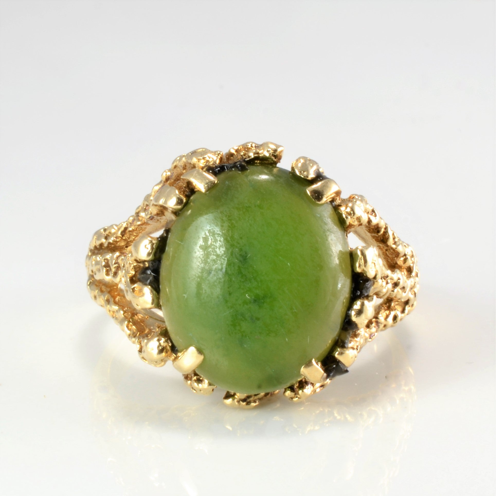 Solitaire Serpentine Textured Ring | SZ 6 |