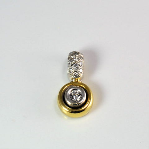 Bezel Set Diamond Two Tone Gold Pendant | 0.46 ctw |