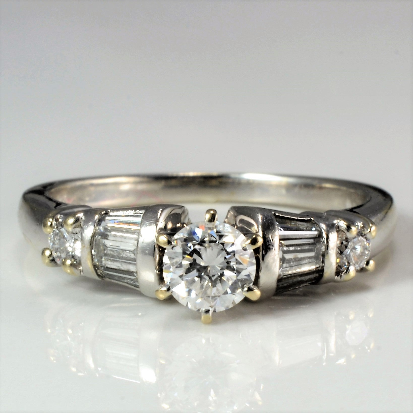 Tapered Diamond Engagement Ring | 0.50 ctw, SZ 5.5 |