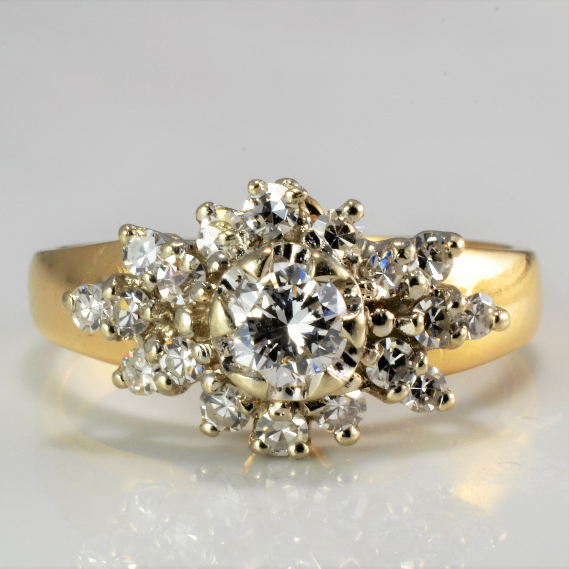 Cluster Diamond Engagement Ring | 0.52 ctw, SZ 5.75 |