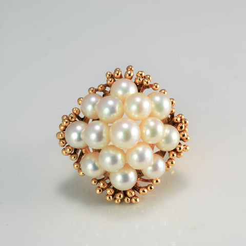 Multi Pearl Ladies Dome Ring | SZ 5.75 |