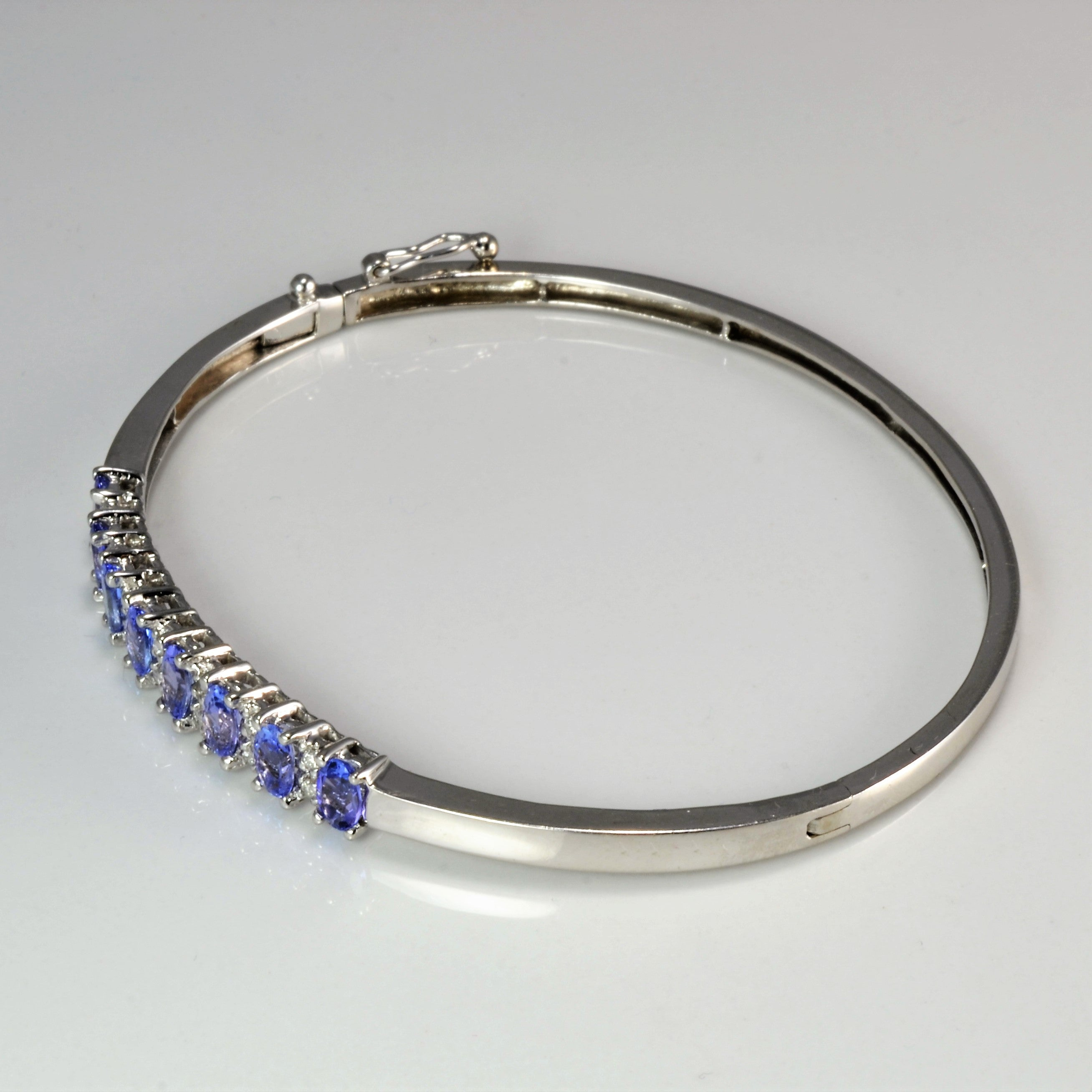 Tanzanite & Diamond Ladies Bangle | 0.10 ctw, 7.5''|