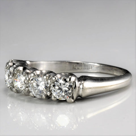 Five Stone Diamond Wedding Ring | 0.90 ctw, SZ 5.75 |