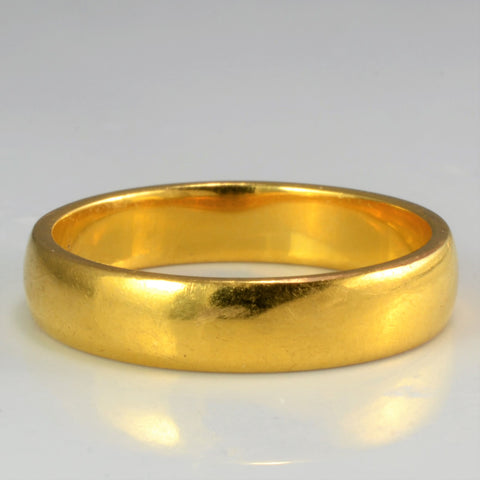 22K Yellow Gold Plain Band | SZ 8 |