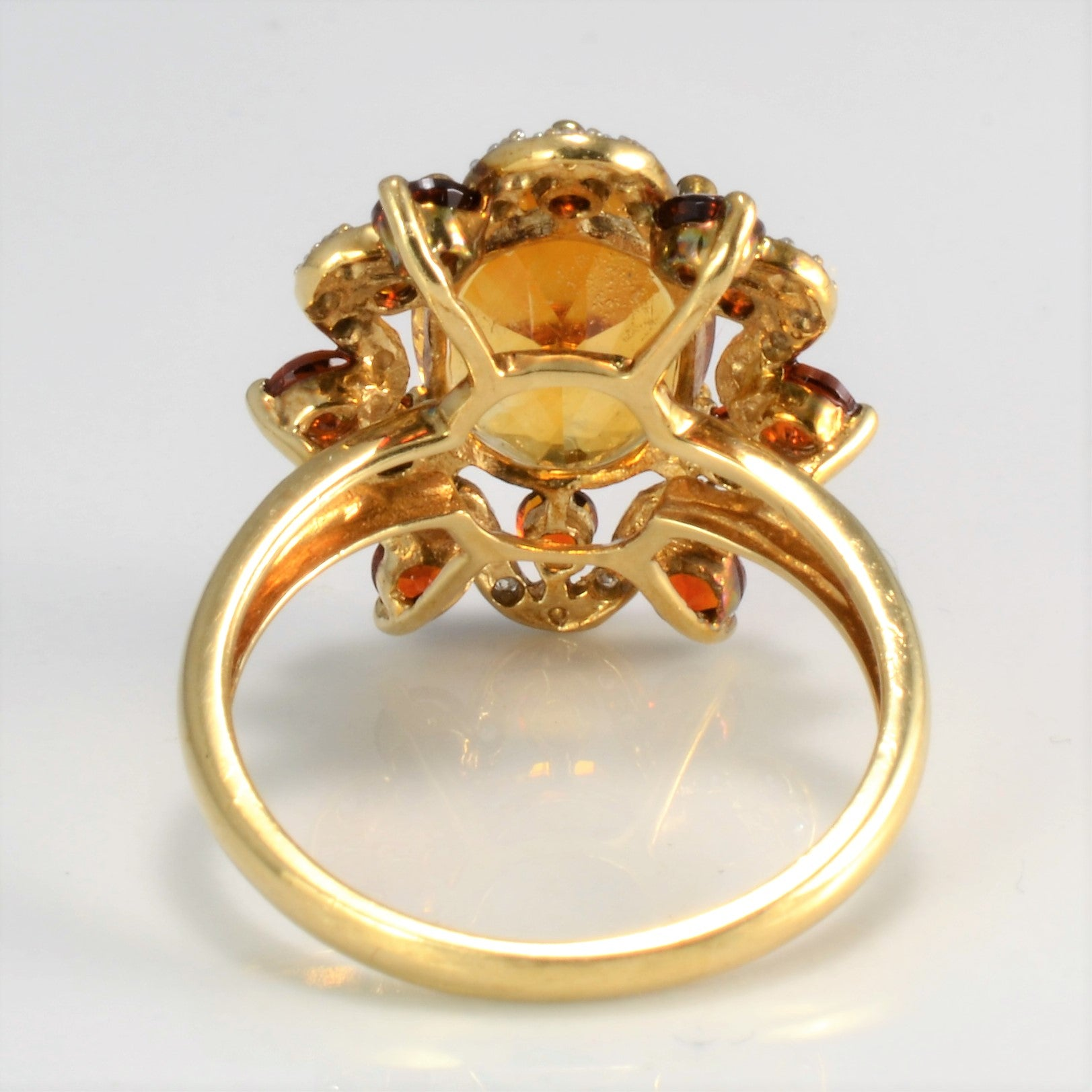 Multi Gemstones Ladies Cocktail Ring | 0.06 ctw, SZ 8 |