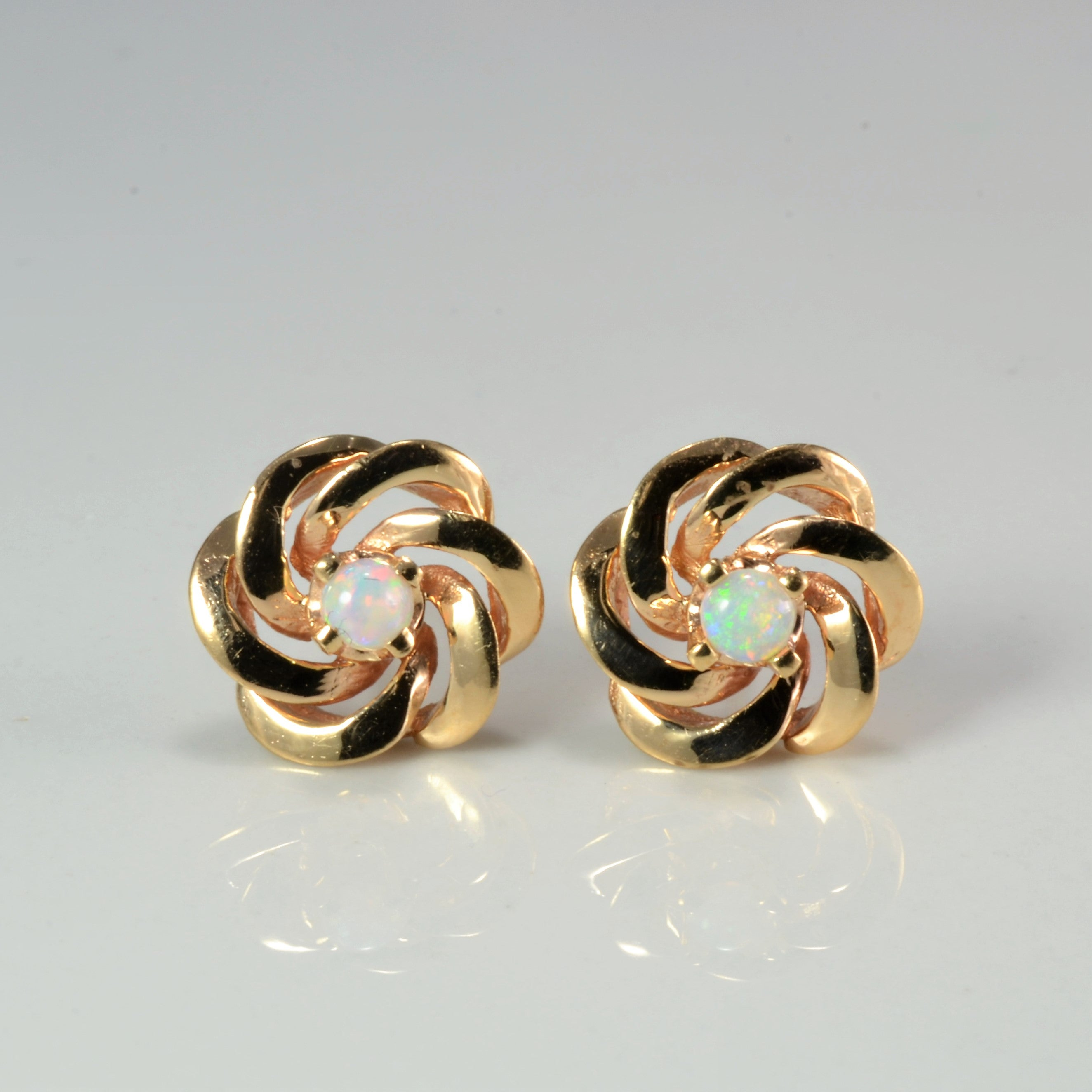 Flower Opal Stud Earrings