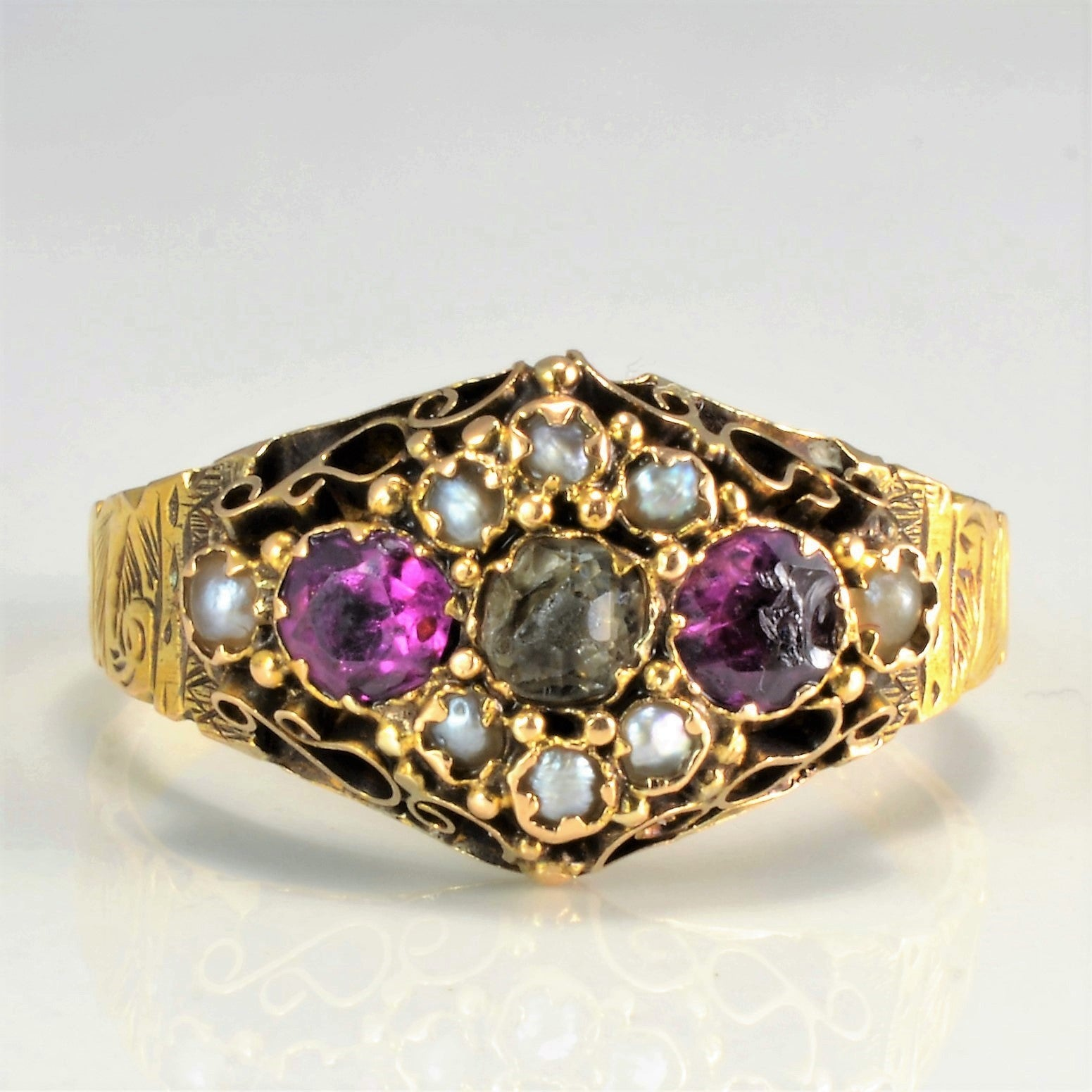 Vintage Multi- Gemstone Ladies Ring | SZ 7 |