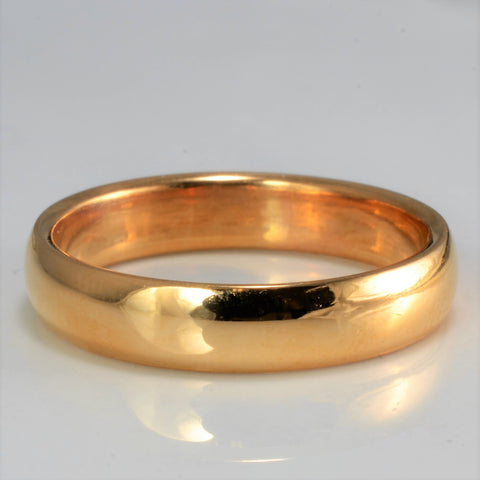 22K Gold Plain Wedding Band | SZ 7 |