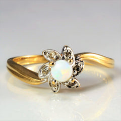 Flower Opal & Diamond Ring | 0.03 ctw, SZ 5.75 |