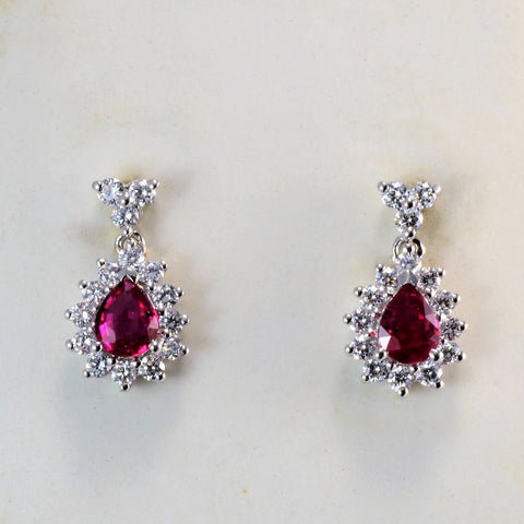 Ruby & Diamond Earrings | 0.42 ctw |