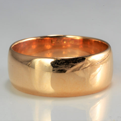 18K Gold Plain Wedding Band | SZ 6 |