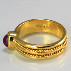 TIFFANY & CO. Bezel Set Ruby Ring | SZ 7 |