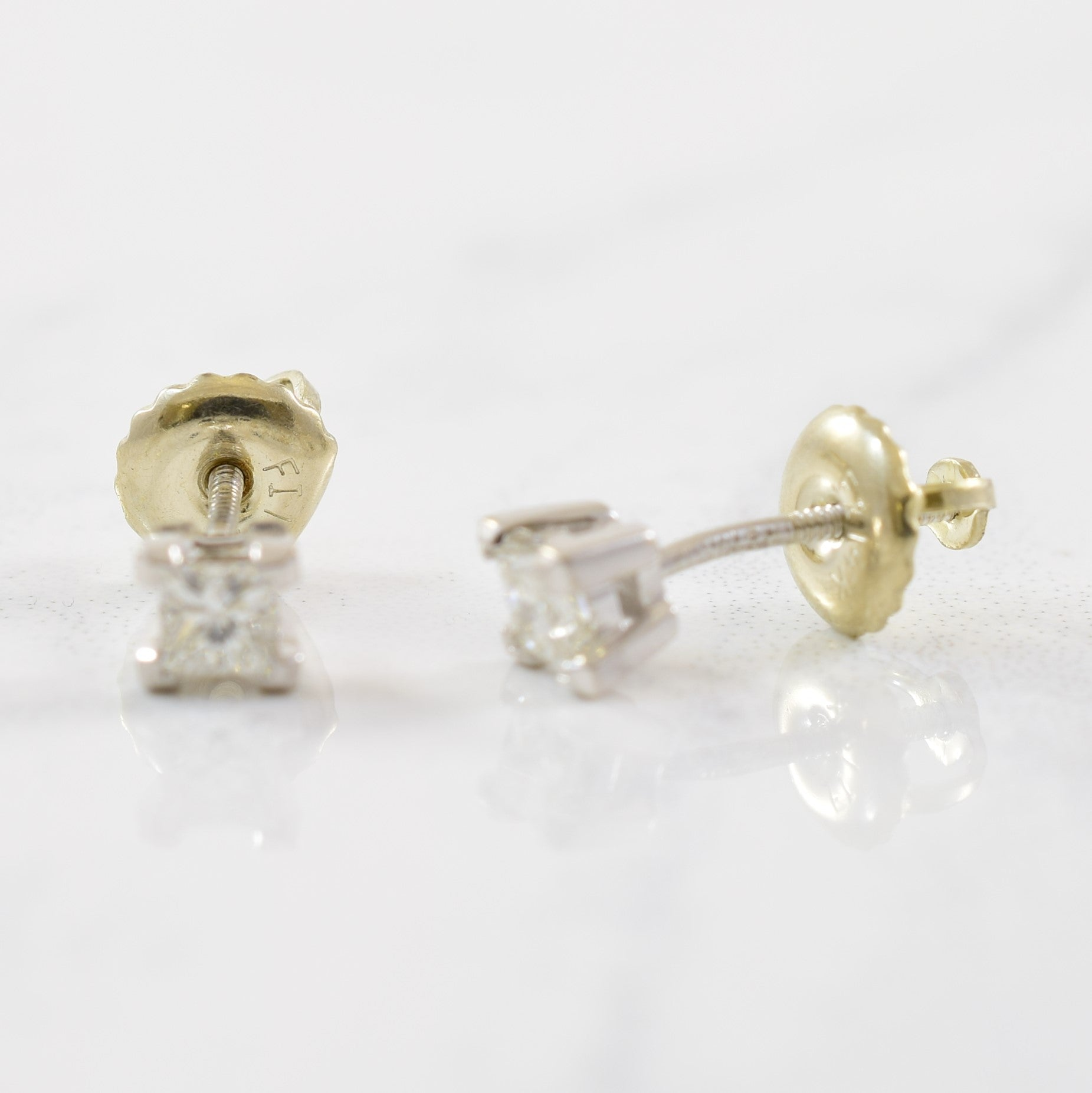Princess Cut Diamond Stud Earrings | 0.20ctw |