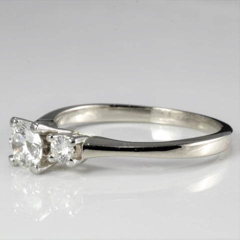 BIRKS Three Stone Diamond Engagement Ring | 0.47 ctw, SZ 6 |