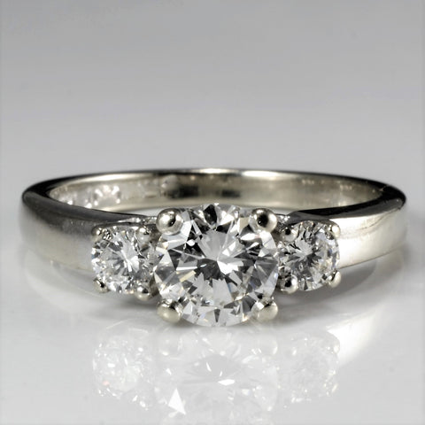 BIRKS Three Stone Diamond Engagement Ring | 0.84 ctw, SZ 5.25 |