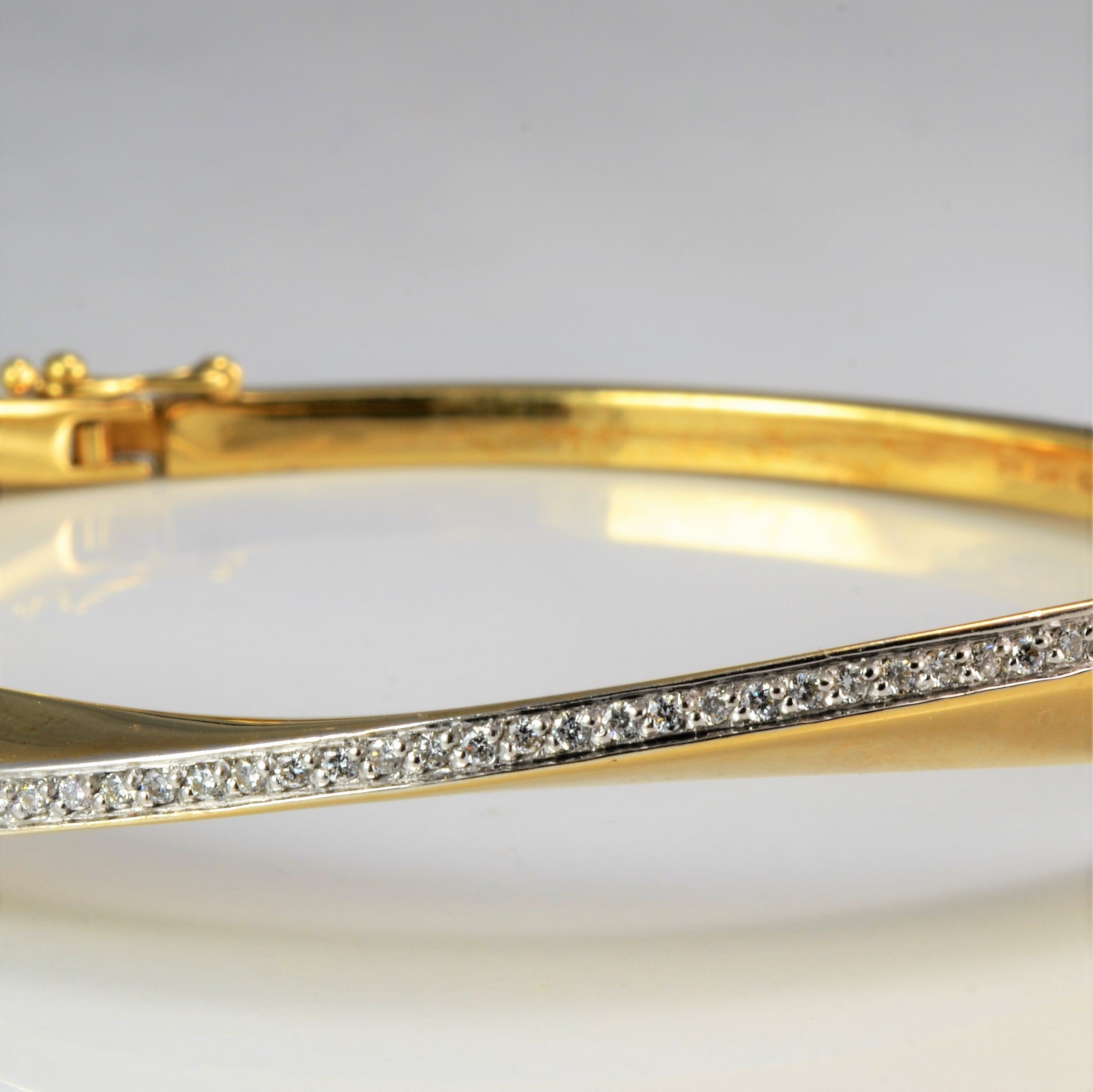 Diamond Wide Bangle Bracelet | 0.75 ctw |