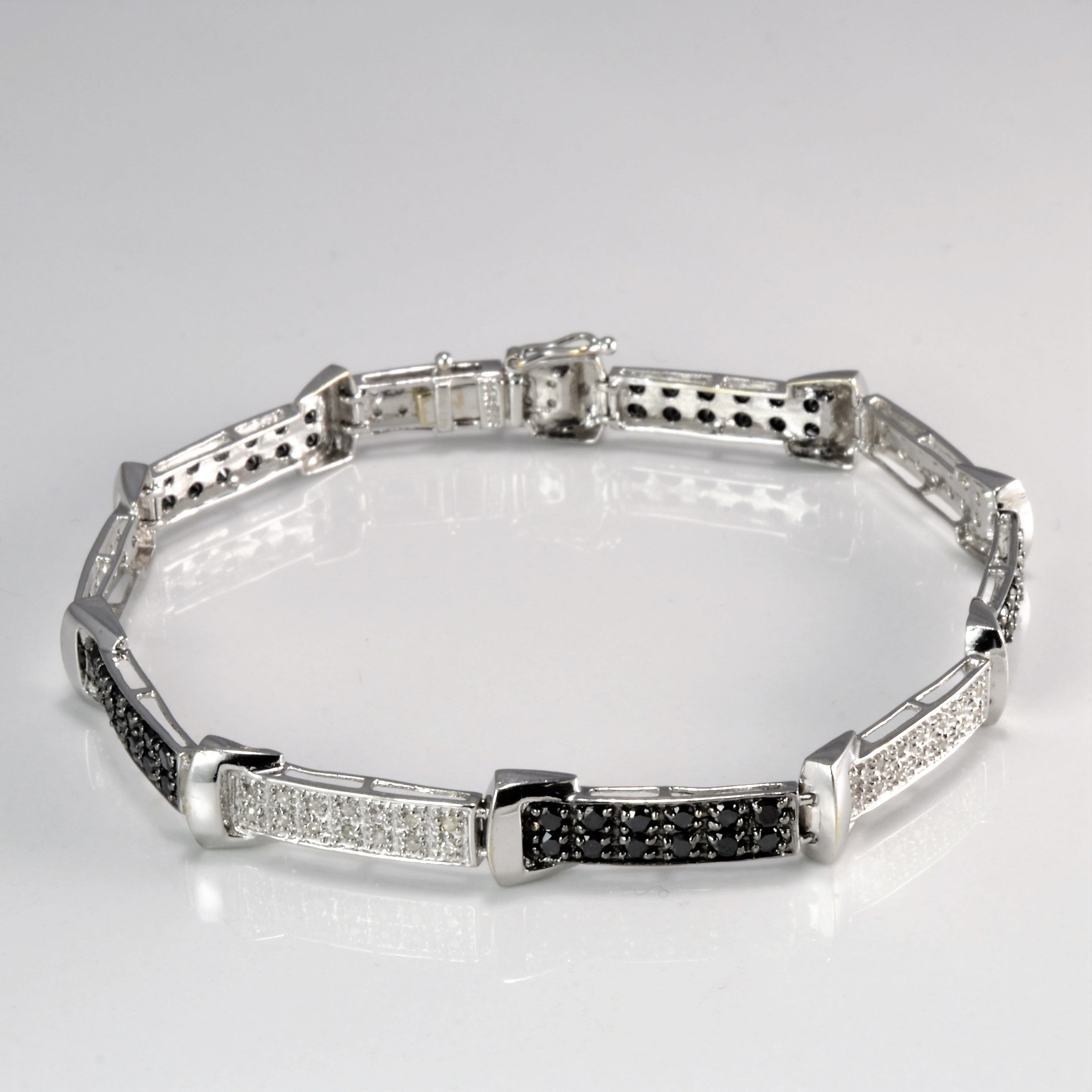 Black & White Diamond Bracelet | 1.00ctw | 7"