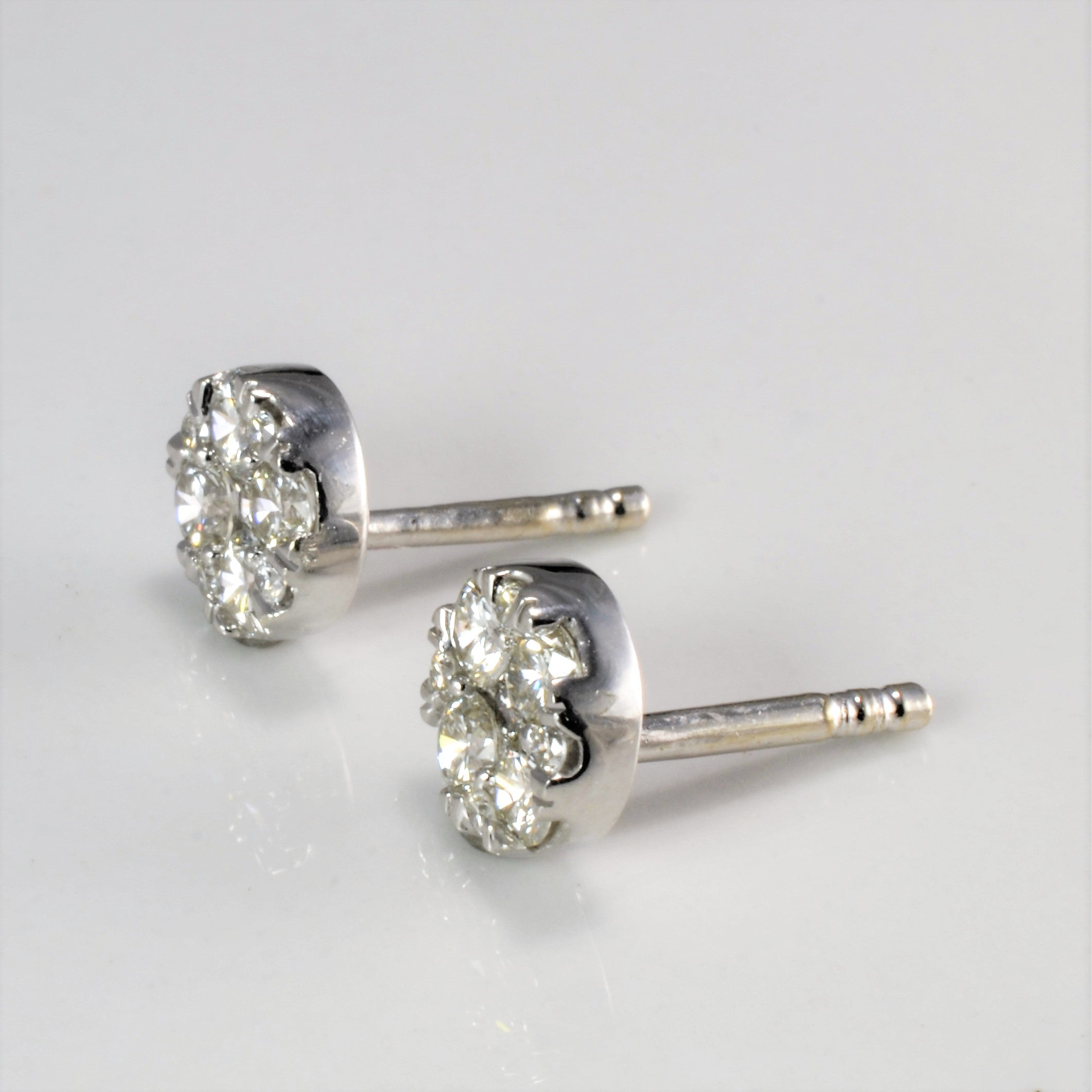Cluster Diamond Stud Earrings | 0.66 ctw |