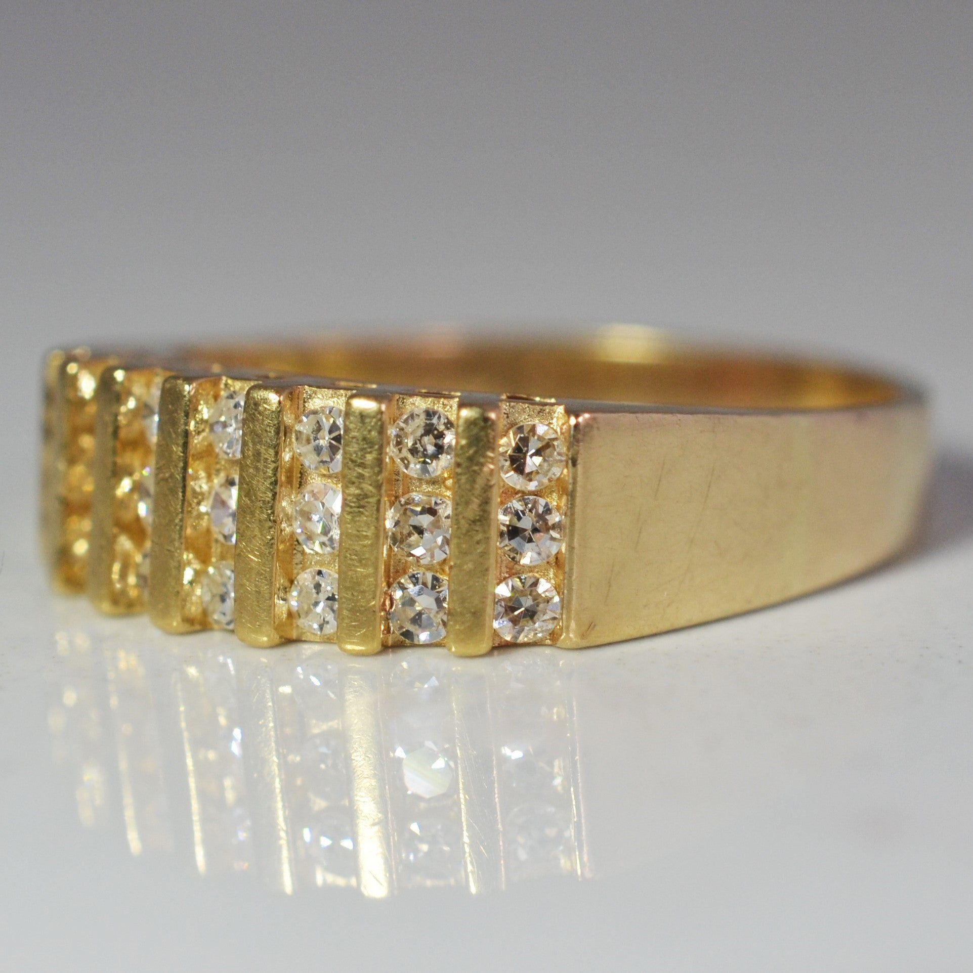 Multi Diamond Row Band | 0.33 ctw, SZ 7.75 |