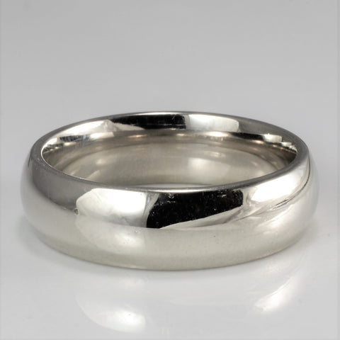 'Birks' White Gold Wedding Band | SZ 8.25 |