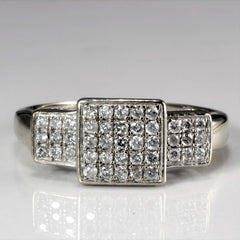 Grid Set Cluster Diamond Ring | 0.25 ctw, SZ 6 |