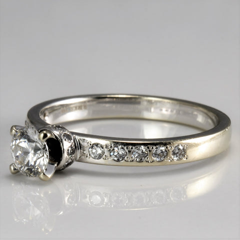 BIRKS Solitaire with Accents Diamond Engagement Ring | 0.54 ctw, SZ 6.5 |