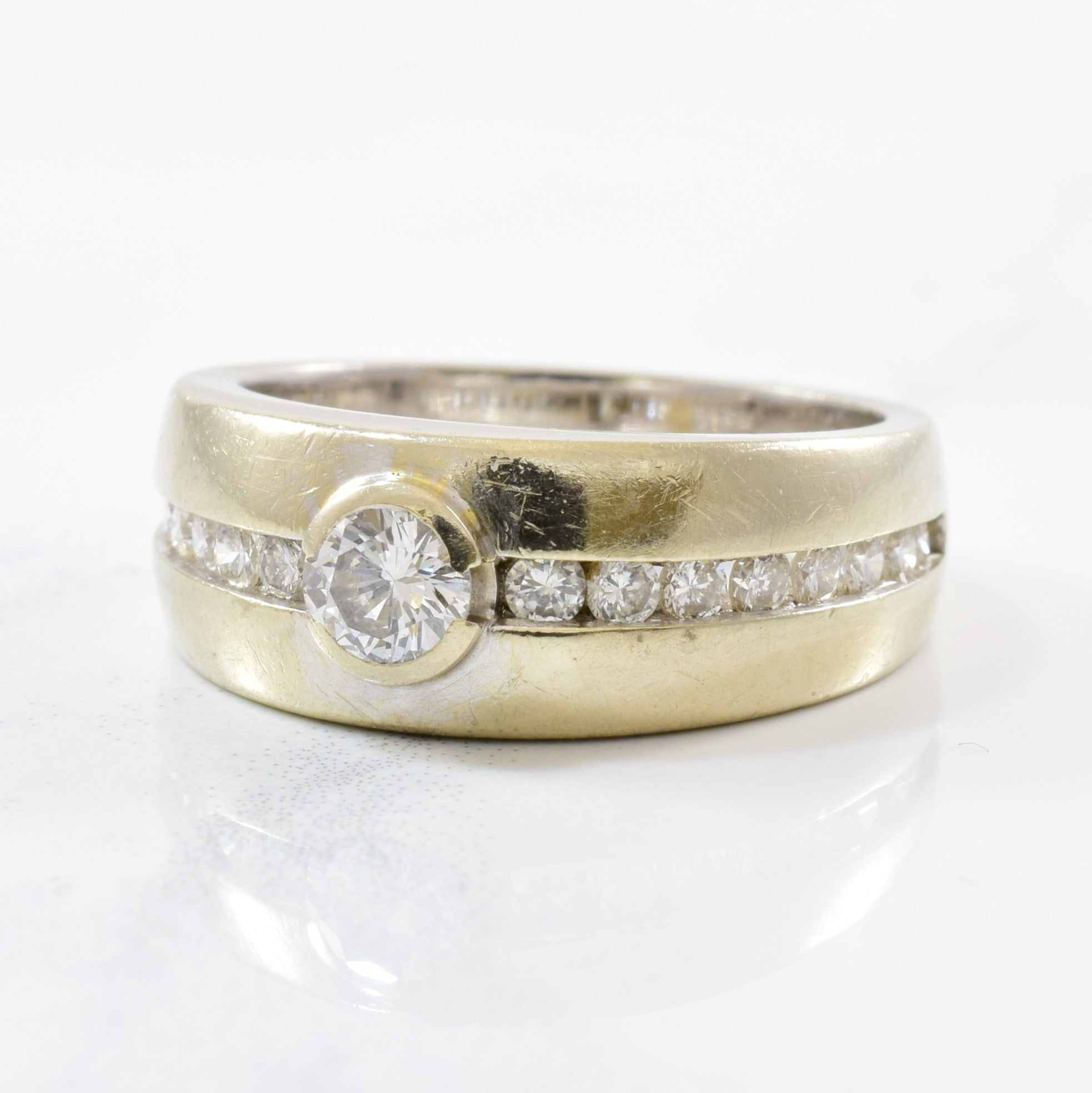 Semi Bezel Set Diamond Engagement Ring | 0.53ctw | SZ 6.5 |
