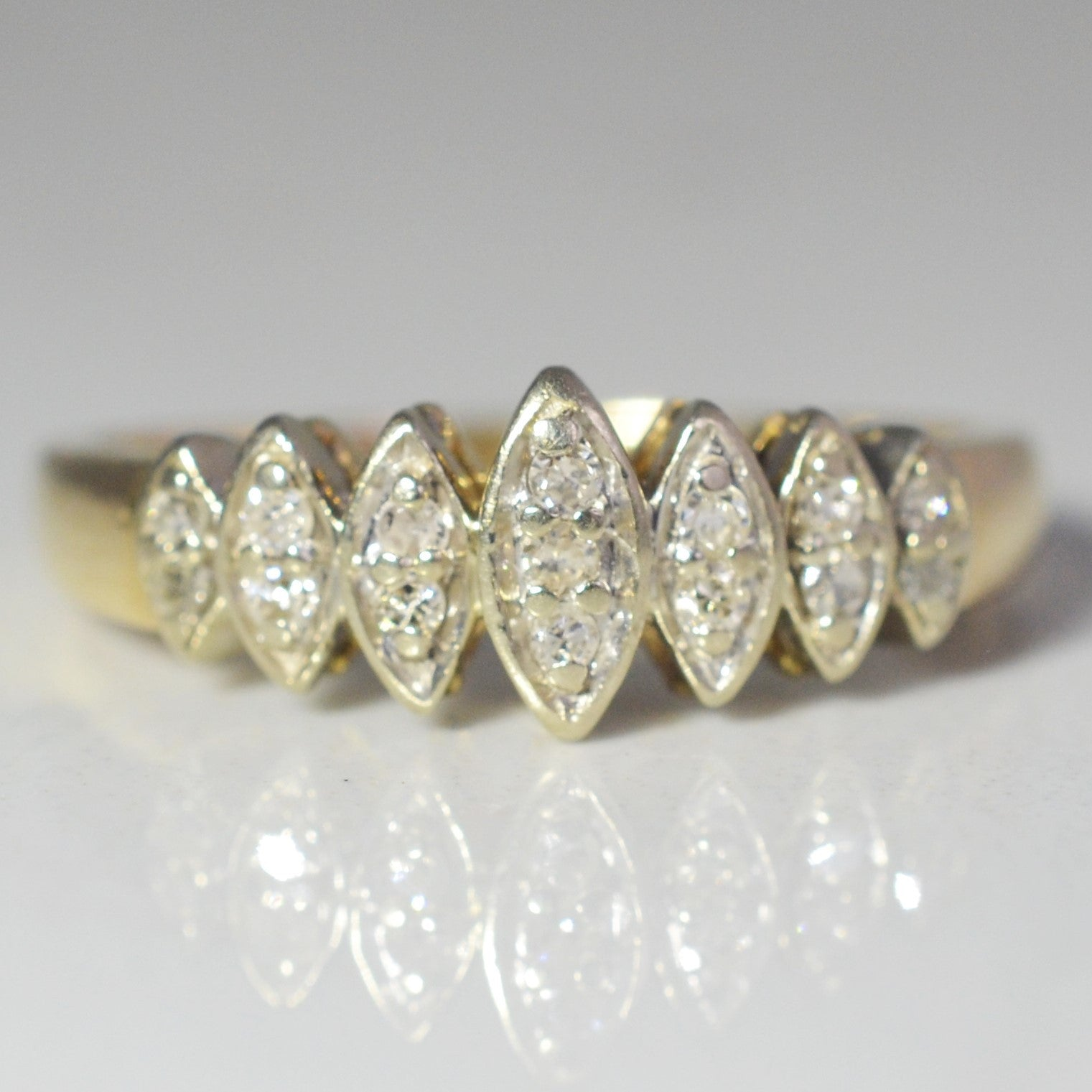 Marquise Illusion Diamond Ring | 0.15 ctw, SZ 6.25 |